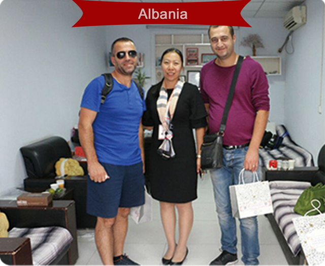 In 2017, customers from Albania visited our factory and finally reached a cooperation