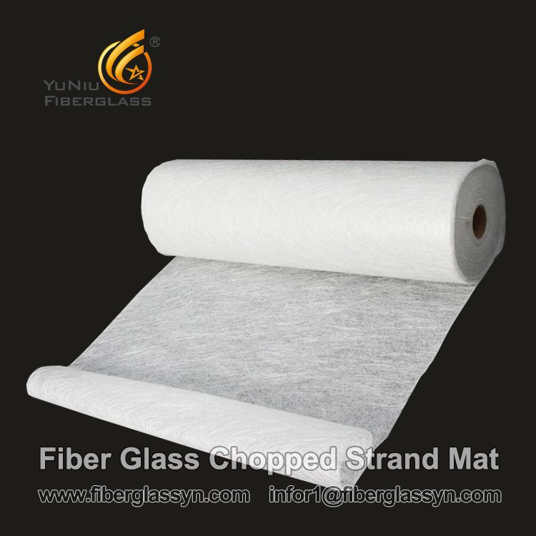 Fiber glass chopped strand mat roofing roll