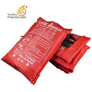 Factory 100% fiberglass Fire Resistant Blanket Supplier 1*1m